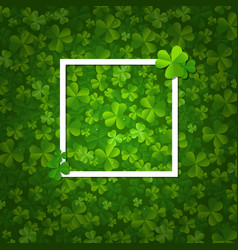 happy clovers frame vector image