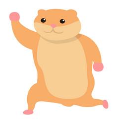 happy hamster icon cartoon style vector image