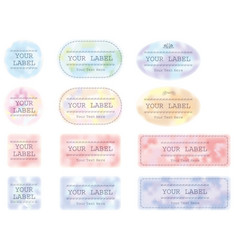 Labels set 4 vector