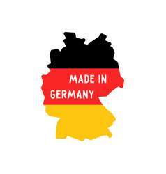 made in germany words on map vector image