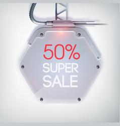 modern billboard sale poster vector image