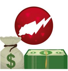 money cash wall street stock vector image
