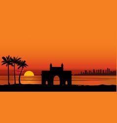 Mumbai city india urban skyline with skyscraper vector