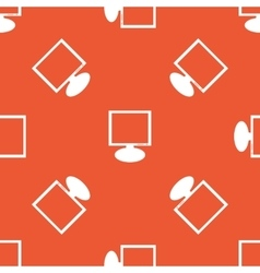 Orange monitor pattern vector image