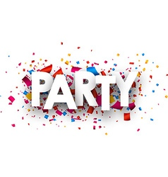 Party paper banner vector image