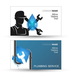Plumber business card vector