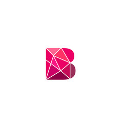 Polygonal trend letter b logotype color vector