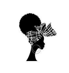 Portrait african woman bandana shenbolen ankara vector