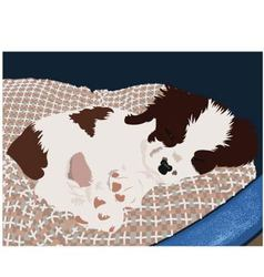puppy asleep vector image