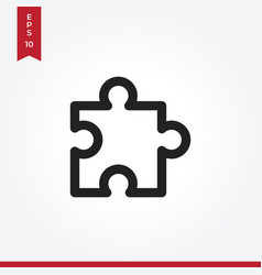 puzzle icon in modern style for web site and vector image