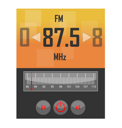 Radio application template vector