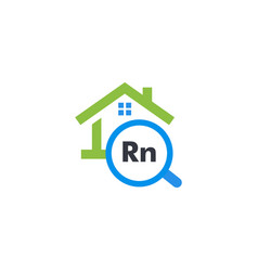 Radon pollution testing service graphic icon vector