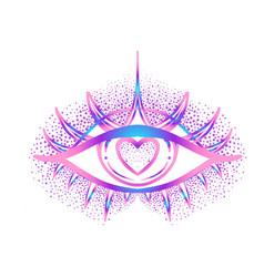 Rainbow gradient tattoo flash eye providence vector