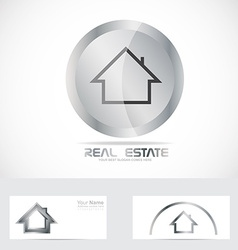 Real estate button logo vector
