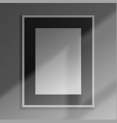 realistic frame 3d blank framework with shadow vector image