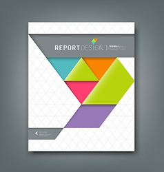 Report design colorful origami paper triangle vector image