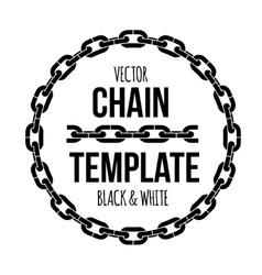 ring shape chain emblem black and white vector image