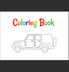 safari wrangler coloring pages for kids vector image