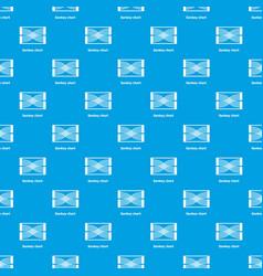 Sankey chart pattern seamless blue vector