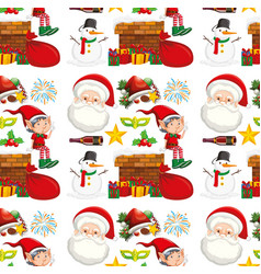 seamless background design with christmas theme vector image