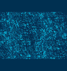Seamless pattern with blue and white chaos mosaic vector