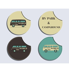Set of unusual labels - stickers travel and vector