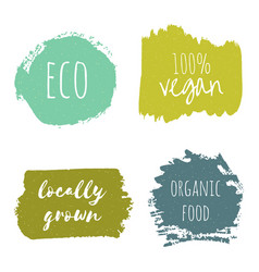 set of vegan eco organic green design templates vector image