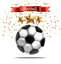 soccer ball realistic vector image