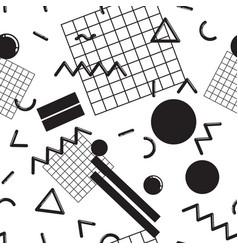 Stylish memphis seamless pattern vector