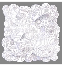 Tangled pattern waves background vector