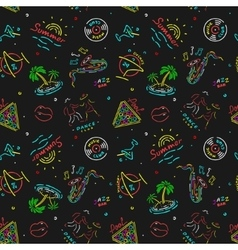 The pattern neon vegas signs vector