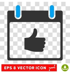 Thumb Up Calendar Day Eps Icon vector image