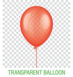 Transparent red ballon vector