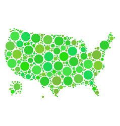 usa with alaska map collage of circles vector image