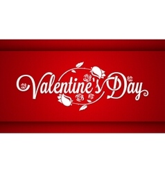 Valentines Day Lettering Banner Background vector