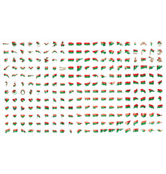 very big collection of flags of the burkina vector image