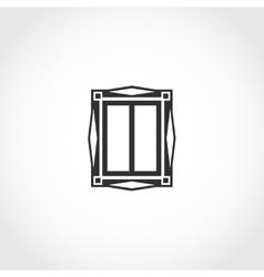 Vintage window icon vector image