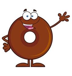 Waving Donut Cartoon vector