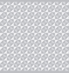 white 3d texture pattern of triangles and squares vector image