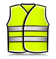 Yellow vest isolated cartoon vector