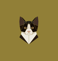 cat head sign in abstract polygonal style vector image