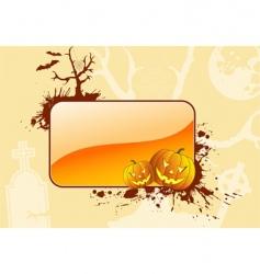 grunge halloween frame vector image vector image