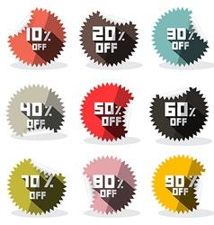 Sale Retro Stickers - Labels vector image vector image