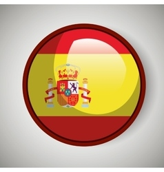 Spanish flag isolated icon design vector image