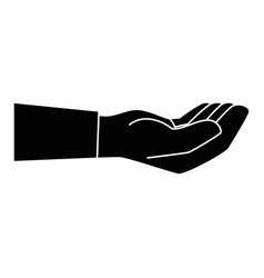 isolated cute human hand vector image
