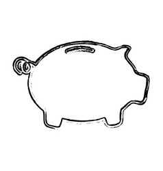 skech piggy bank money vector image
