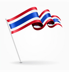 thai pin wavy flag vector image vector image