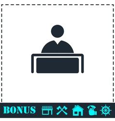 Tribune icon flat vector image
