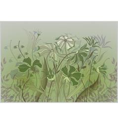 wildflowers pastel drawing vector image