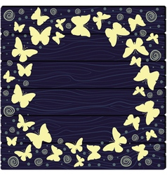 with colorful butterflies vector image vector image